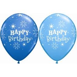 "11"" Birthday Sparkle Dark Blue & Robin's Egg Blue (50ct.)"