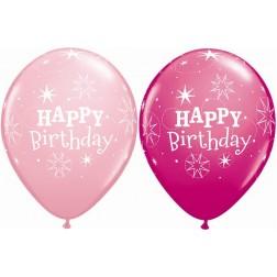 """11"""" Birthday Sparkle Pink & Wild Berry (50ct.)"""