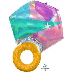 SuperShape Holographic Iridescent Wedding Ring