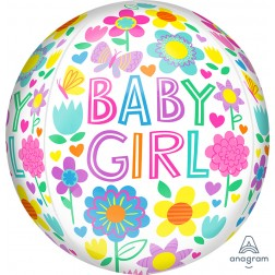 Orbz Baby Girl Floral Butterfly