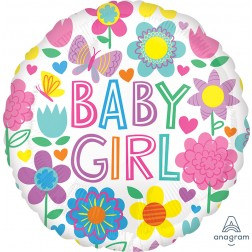 Standard Baby Girl Floral Butterfly