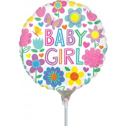 """4"""" Baby Girl Floral Butterfly"""