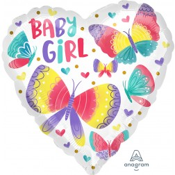Standard Baby Girl Watercolor Butterflies