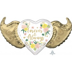SuperShape Forever & Always Floral Winged Heart