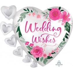 SuperShape Satin Wedding Wishes
