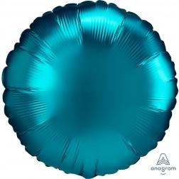 Standard Satin Luxe Aqua Circle