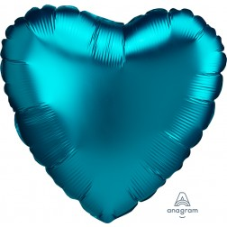 Standard Satin Luxe Aqua Heart