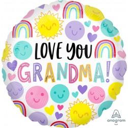 Standard Love You Grandma Happy Faces
