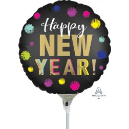 """9"""" Satin Dotted New Year"""