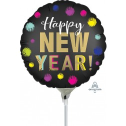 """4"""" Satin Dotted New Year"""