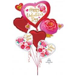 Bouquet of Balloons HVD Heart & Rose