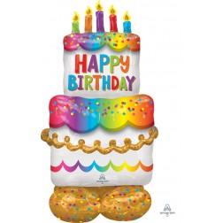 CI: Airloonz Large Birthday Cake