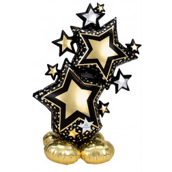CI: Airloonz Large Star Cluster Black & Gold