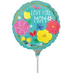 """9"""" Mom Pretty Flowers & Butterflies"""