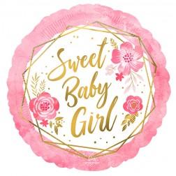 Standard Baby Girl Floral Geo