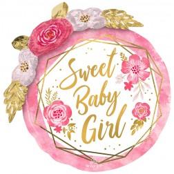 Multi-Balloon Baby Floral Geo