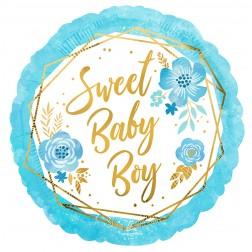 Standard Baby Boy Floral Geo