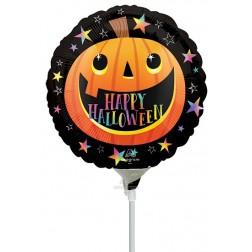 """9"""" Smiley Halloween Pumpkin"""
