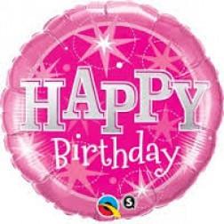 """36"""" Birthday Pink Sparkle"""
