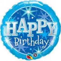 "36"" Birthday Blue Sparkle"