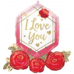 SuperShape I Love you Gem & Roses