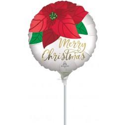"""4"""" Satin Christmas Poinsettia"""