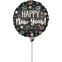 "9"" Confetti Satin New Year"