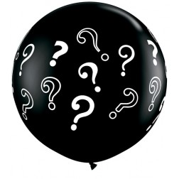 3' Question Marks Onyx Black 02Ct
