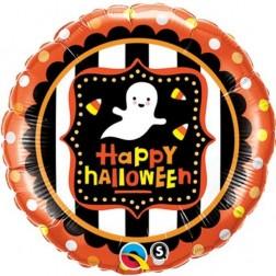 "18"" Halloween Ghost & Candy Corn"