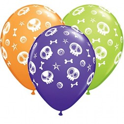 """11"""" Fun Skulls & Eyeballs (50ct)"""