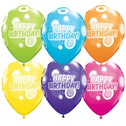 "11"" Birthday Dots & Glitz Party Assortment (50ct)"
