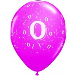 "11"" 0 Confetti-A-Round Trendy Assortment 50Ct"