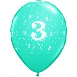 "11"" 3 Confetti-A-Round Trendy Assortment 50Ct"