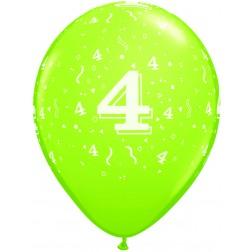 "11"" 4 Confetti-A-Round Trendy Assortment 50Ct"