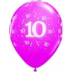 "11"" 10 Confetti-A-Round Trendy Assortment 50Ct"