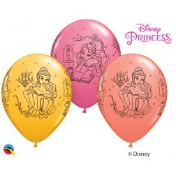 """11"""" Disney Princess Belle Assorted Coral, Goldenrod, & Rose (25ct.)"""