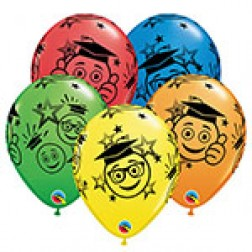 "11"" Graduation Smileys (50ct)"