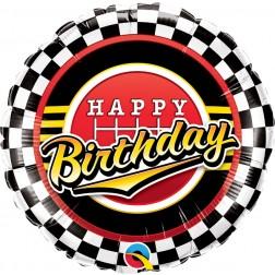 "18"" Birthday Checkered Pattern"
