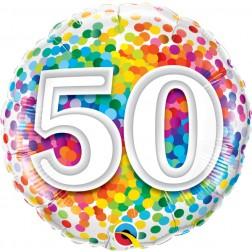 "18"" 50 Rainbow Confetti"