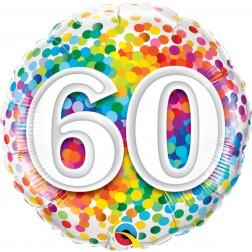 "18"" 60 Rainbow Confetti"