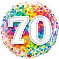 "18"" 70 Rainbow Confetti"