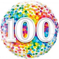 "18"" 100 Rainbow Confetti"