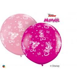3' Disney Minnie Mouse-A-Round Asst Pink & Wild Berry (2ct)