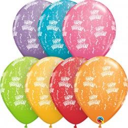 "11"" Birthday-A-Round Festive Asst. (50ct)"