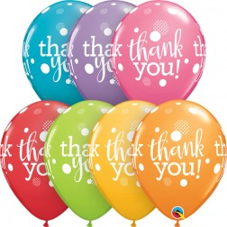 "11"" Thank You Dots Upon Dots Festive Asst. (50ct)"