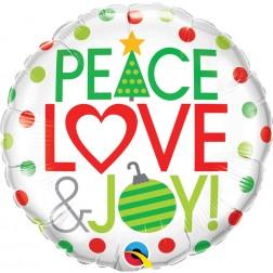 "18"" Peace Love & Joy"