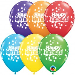 05 Bday Confetti Dots Bright Rainbow 100