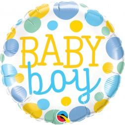 "18"" Baby Boy Dots"