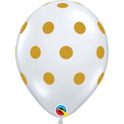 "11"" Big Polka Dots Diamond Clear (50 ct.)"