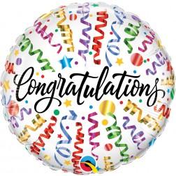 "18"" Congratulations Streamers"